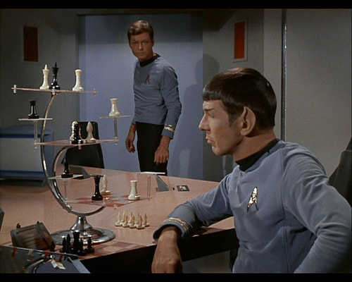 "Spock playing 3D ""space"" chess"