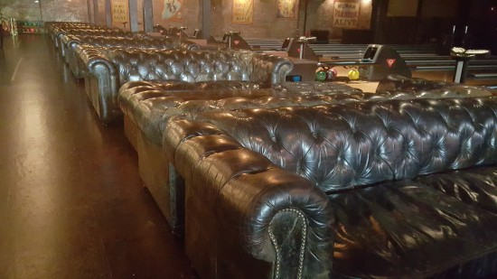 Leather Couches at the Brooklyn Bowl