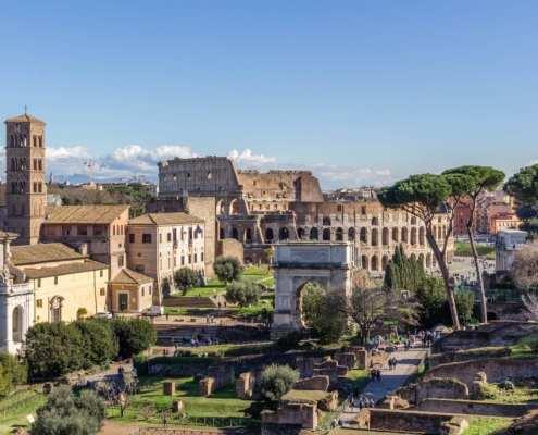 Colloseum und Forum Romanum