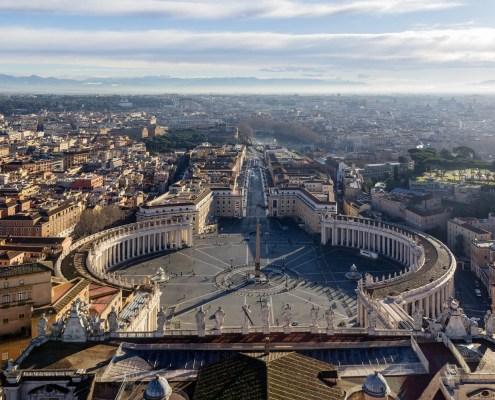 Aussicht auf den Petersplatz