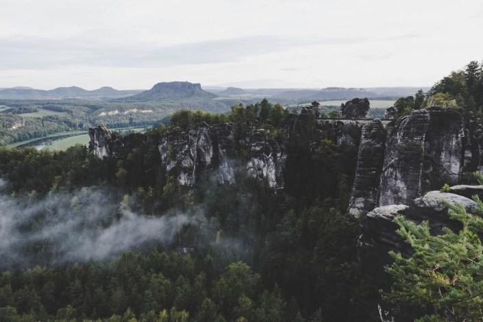 Ausblick auf die Basteibrücke