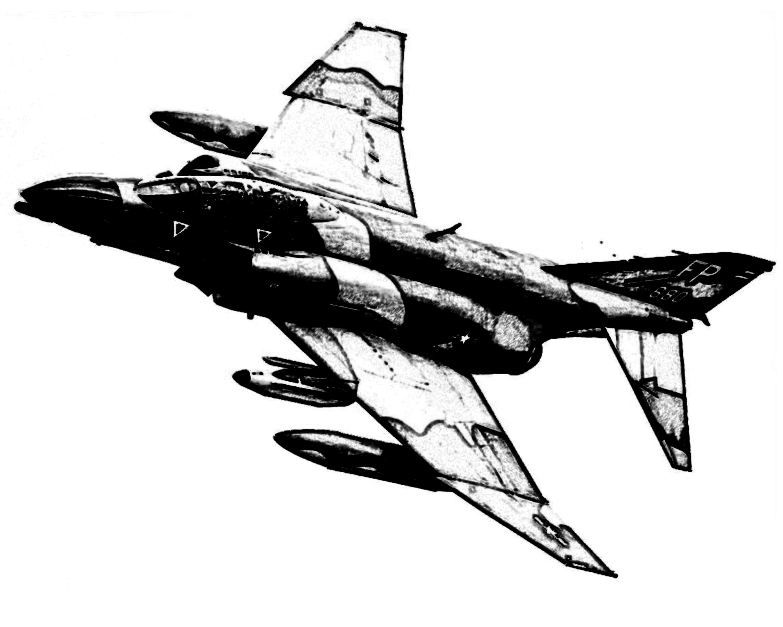 F 4 Phantom Ii Fighter Jet Rough Drawing
