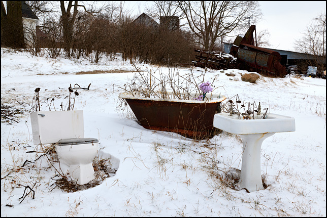 Old Bathroom Fixtures In The Yard Photograph By Christopher Crawford