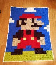 Super Mario Granny Squares afghan