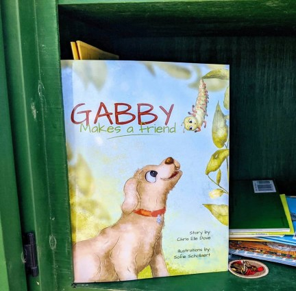 Gabby feels right at home in Little Free Libraries