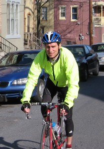 Christopher Fitz training for the Homeless Horizons Bike Tour