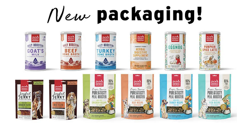 The Honest Kitchen new packaging graphic by Chris Freyer