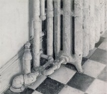 1997, charcoal & graphite on paper, 21 x 20 in.