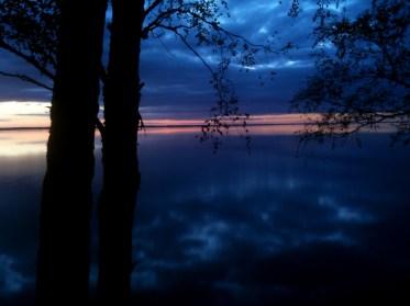 "A lingering sunset over Lake Võrtsjärv in Estonia duting production of ""The Worm Hunters"", 2011"