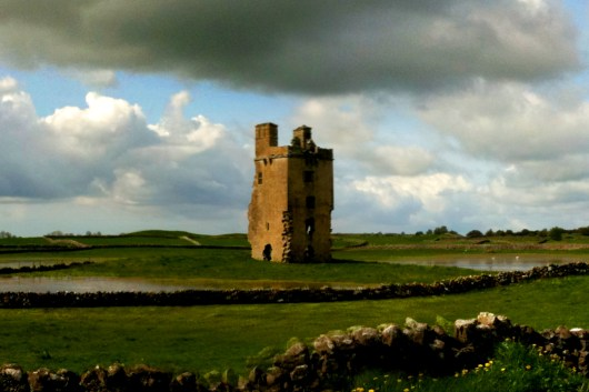 """An castle ruin in the Republic of Ireland. """"Dancing Down Under"""", 2012"""