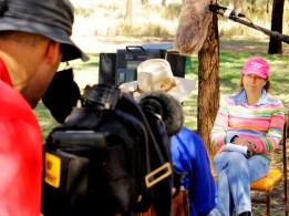 """Craig Berkman filming """"noddies"""" with Pip Courtney. """"Landline"""" 2015"""
