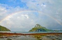 The El Nido rainbow in all its glory. (IMAGE: CHRIS GRAHAM)