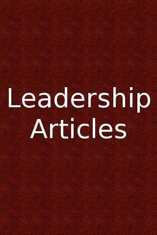 VOCL 029 – Looking at Leadership Articles #13