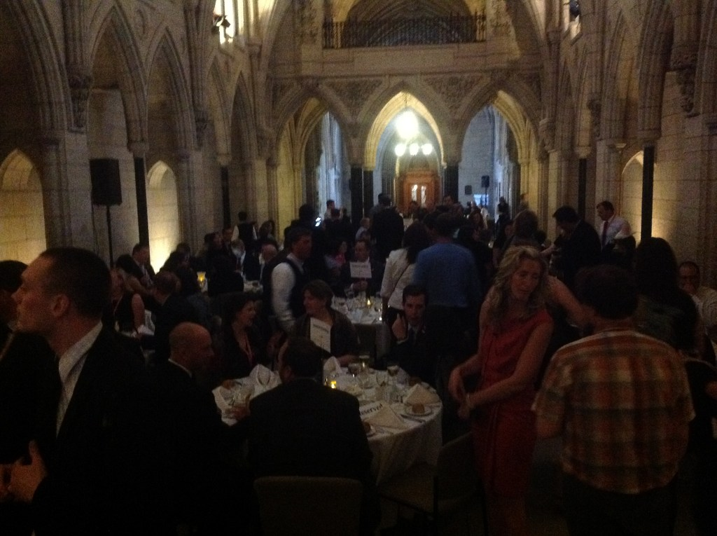 Dinner at Parliament House Centre Block