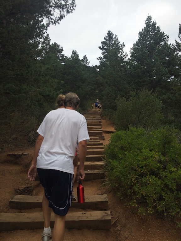 Manitou Springs Incline - The view from 500m (looking up)