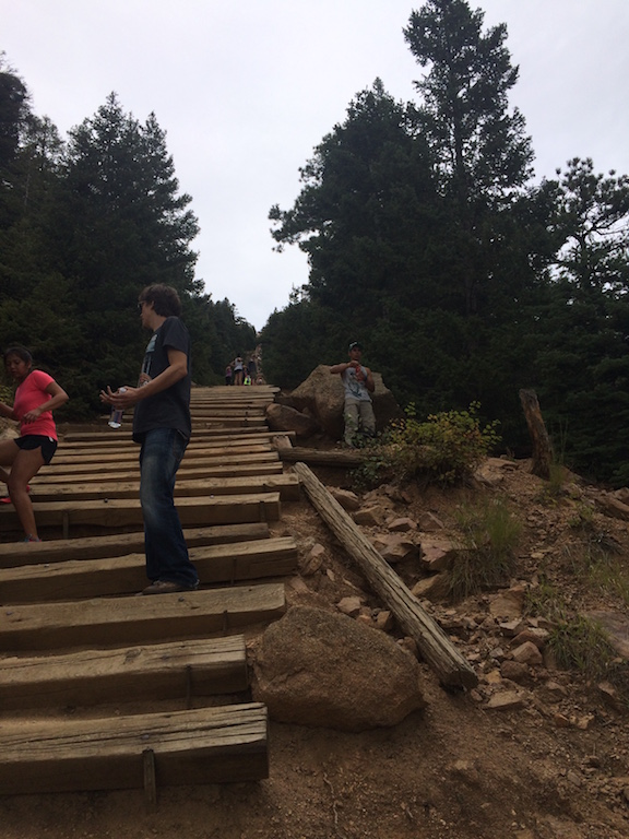 Manitou Springs Incline - Even climbing 30 feet at a time can be tough