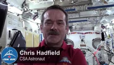 Chris controls Canadarm2