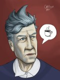 David Lynch portrait.