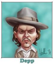 Johnny Depp Caricature 13th February 2014