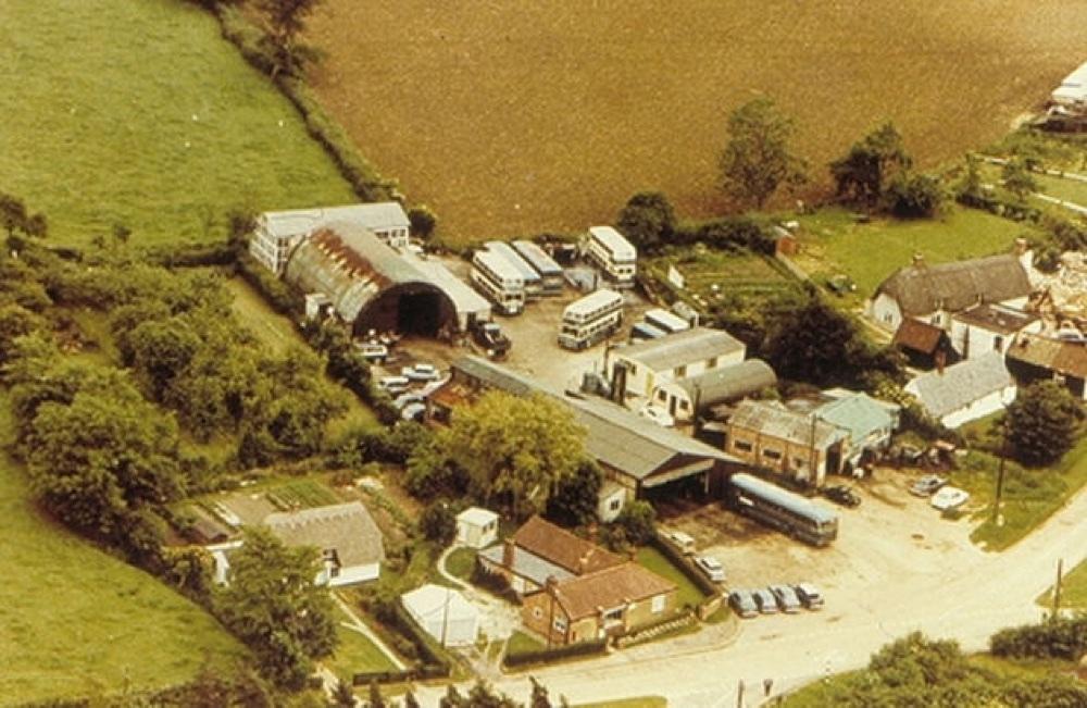 chrishall bus depot mid 1960s