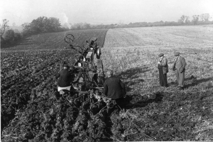 Ploughing at Drage and Kent 1950