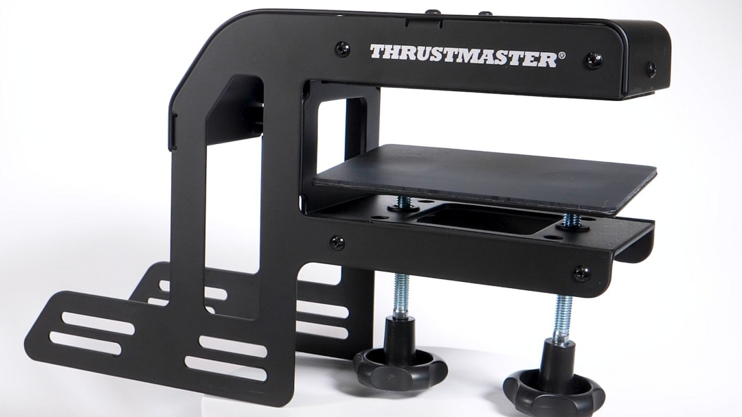Desk mounting clamp for the Thrustmaster TSS Handbrake Sparco Mod handbrake and shifter