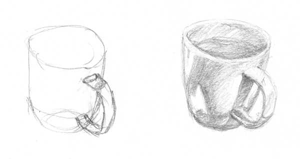 Example cup sketches