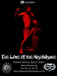 A promo I designed for The Love of the Nightingale.