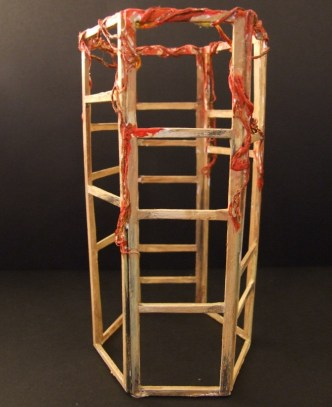 Maquette for the central column.