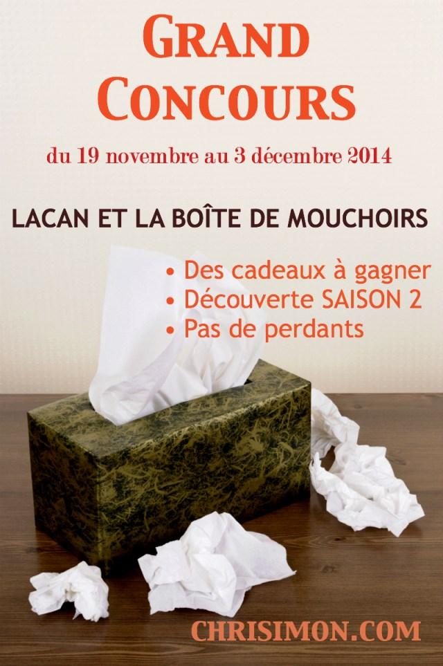 Concours Lacan et la boîte de mouchoirs - Saison 1