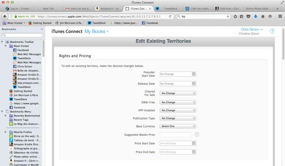 Edit existing territories