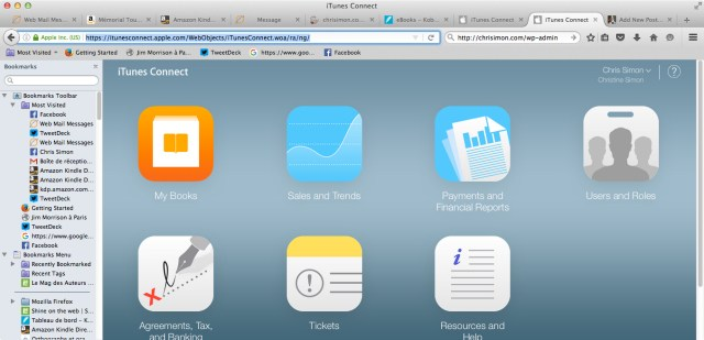 iTunes connect Home Page