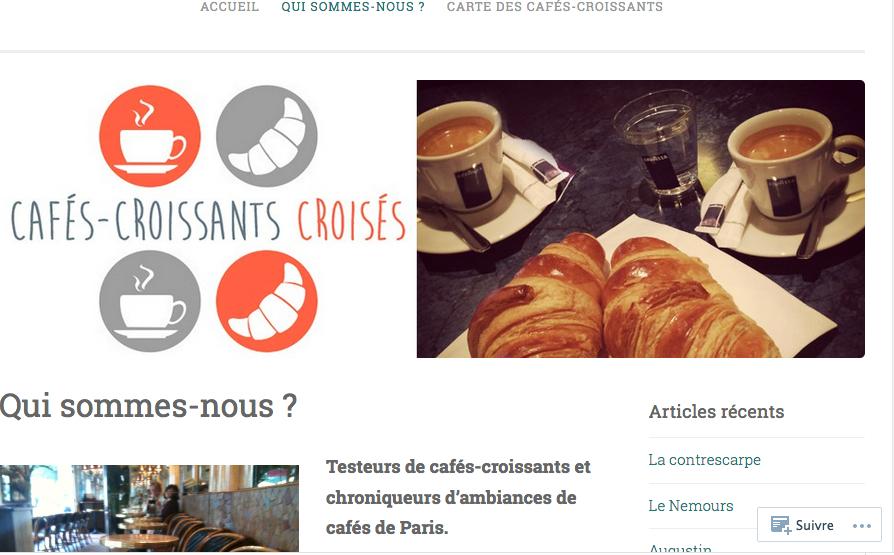 Cafés croissants croisés