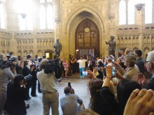 Really delighted to see the Paralympic flame today as it made it's way via the House of Commons #TeamGB #Paralympics