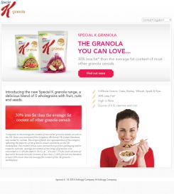 Special K Granola Website