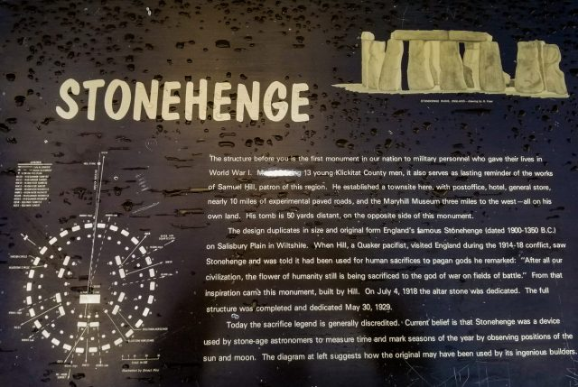 Maryhill's Stonehenge plaque