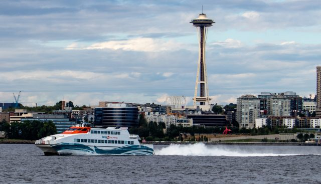 Space Needle with Kitsap Ferry