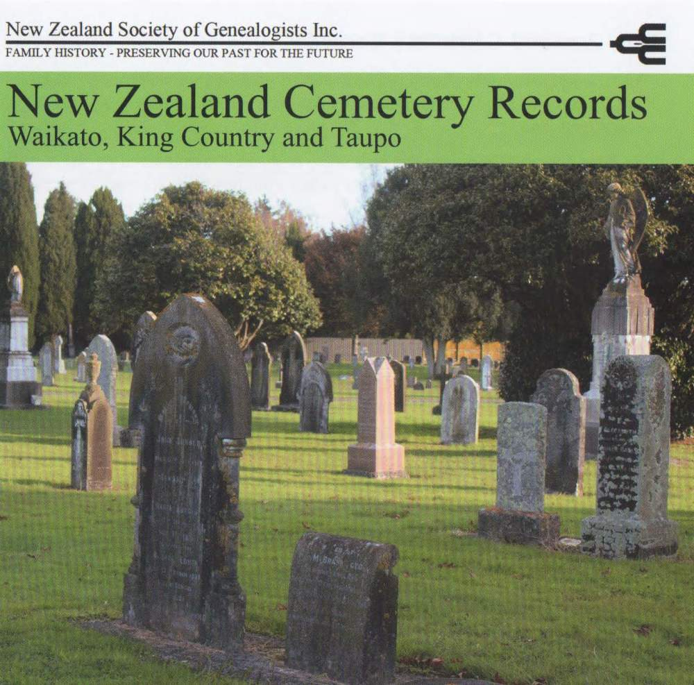 New Zealand Cemetery Records - CD1
