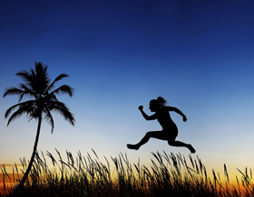 picture of paleo person jumping
