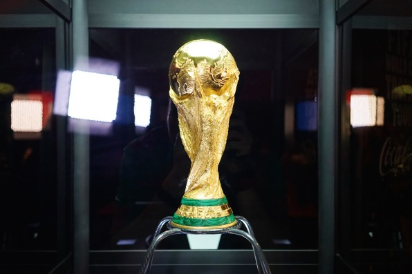 The Fifa World Cup Trophy. Arguably the world's most popular trophy.