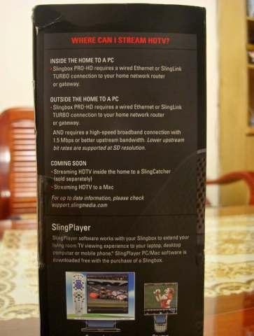 SlingBox Pro HD外盒側面