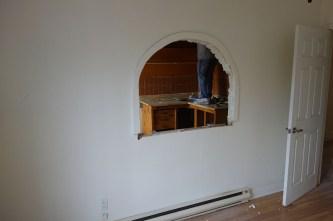 Weird trattoria wall in upstairs kitchen