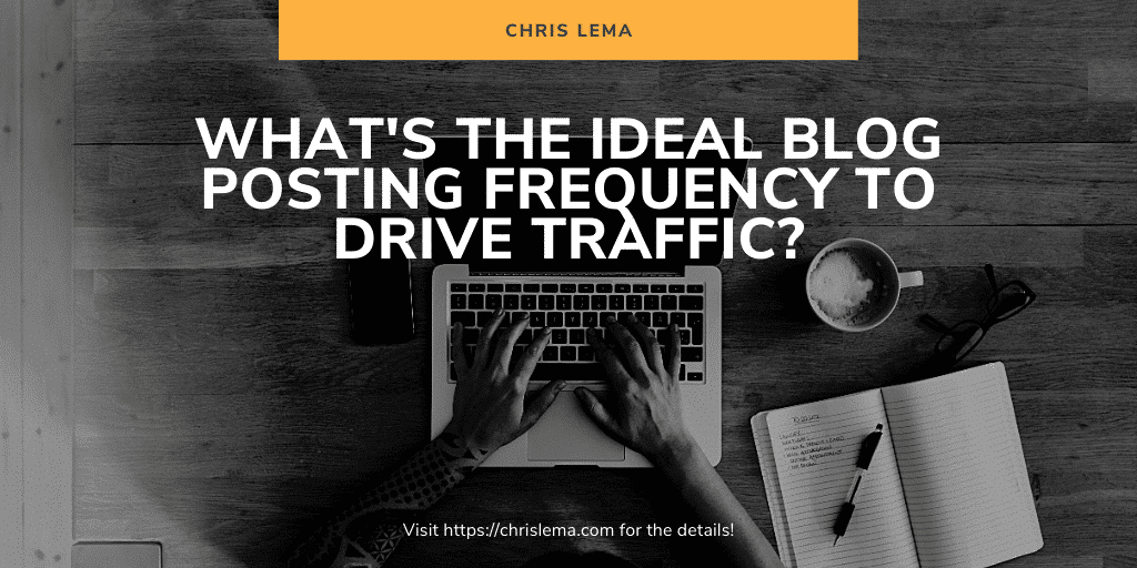 Is there an ideal blog post frequency that drives traffic?