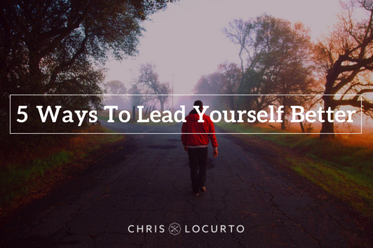 This man in his red jacket is on a path, leading himself somewhere. Learn how to lead yourself better with Chris LoCurto