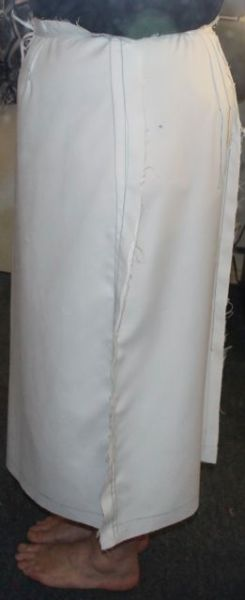 Pencil Skirt Muslin - Seams taken in side view