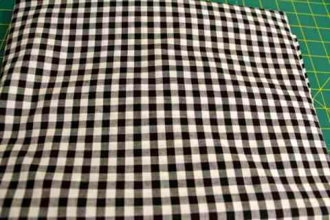 Black and White Check Gingham fabric