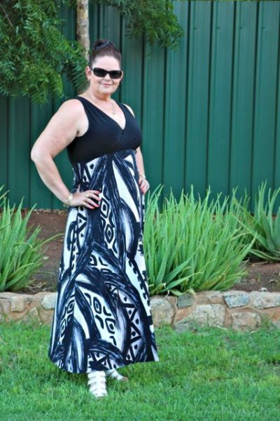Maxi Dress Self Drafted Pattern is a Winner