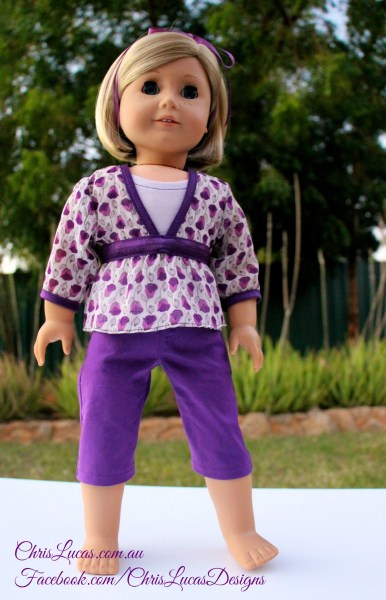 AG Doll Outfit GIVEAWAY - Capri Pants - 2 Tops - AG Doll Panties and Ribbon - Chris Lucas Designs
