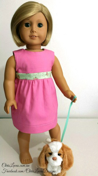 Reversible Dolls Dress - American Girl Dolls - Chris Lucas Designs