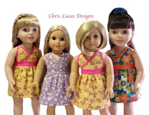 Chris Lucas Designs - Halter Neck Sewing Pattern for AG Dolls Coming Out Soon